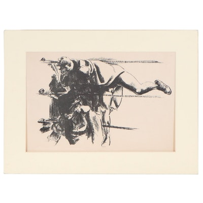 Robert Riggs Lithograph of Boxer, 20th Century