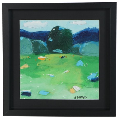 Angie Hubbard Landscape Acrylic Painting, 21st Century