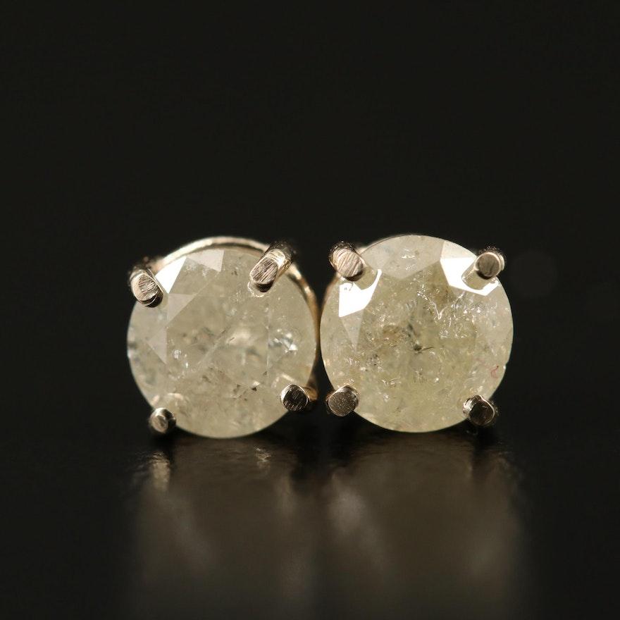 14K 1.10 CTW Diamond Stud Earrings