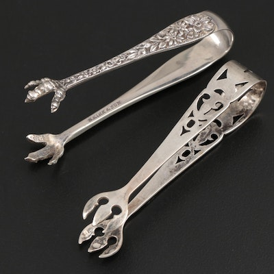 S. Kirk & Son and Webster Company Sterling Silver Sugar Tongs, Mid-20th Century