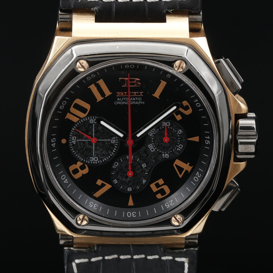 Buti Magnum Sport Chronograph Titanium and Stainless Steel Automatic Wristwatch