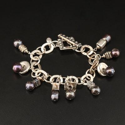 Sterling Pearl Fringe Bracelet