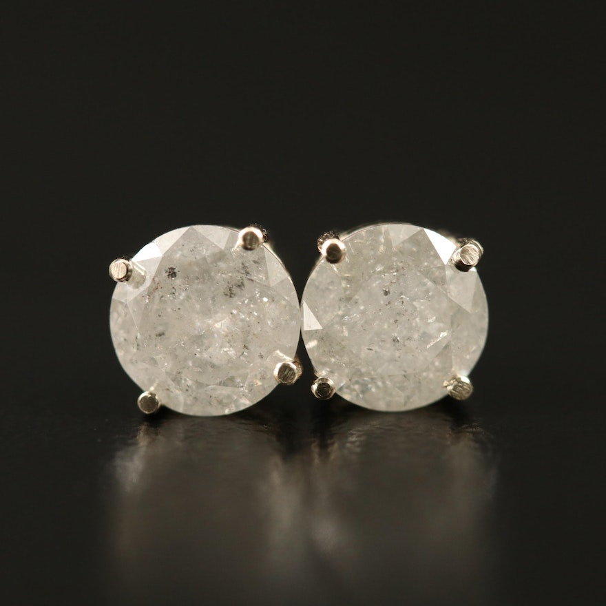 14K 1.70 CTW Diamond Stud Earrings
