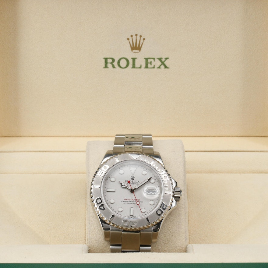 2002 Rolex Yacht - Master Platinum and Stainless Steel Automatic Wristwatch