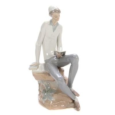 """Lladró """"Hebrew Student"""" Porcelain Figurine Designed by Juan Huerta"""