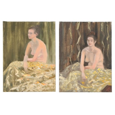 Marcus Brewer Oil Studies of a Nude Woman, 21st Century