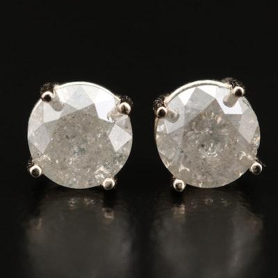 14K 1.28 CTW Diamond Stud Earrings
