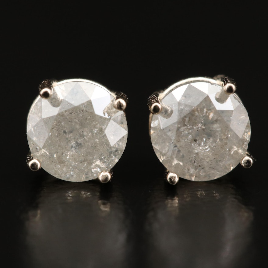 14K 1.28 CTW Diamond Stud Earrings