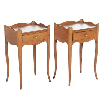 Pair of Louis XV Style Maple End Tables, 20th Century