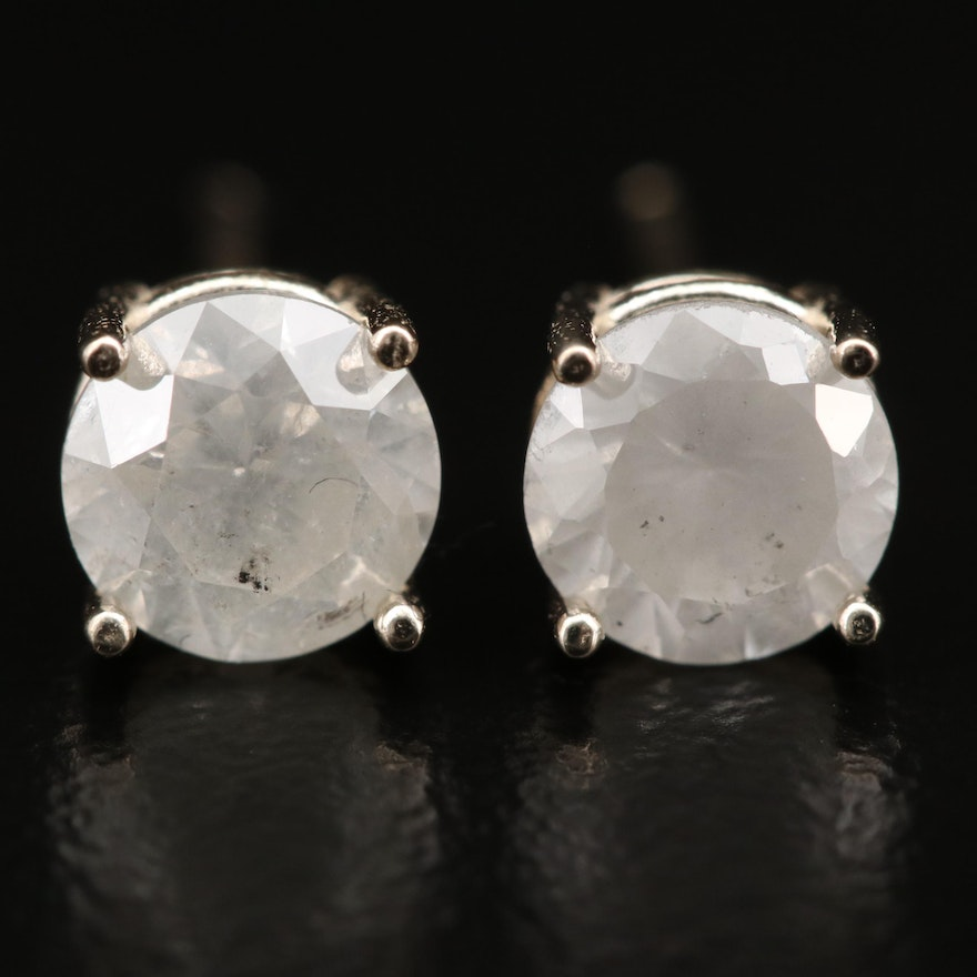 14K 1.22 CTW Diamond Stud Earrings
