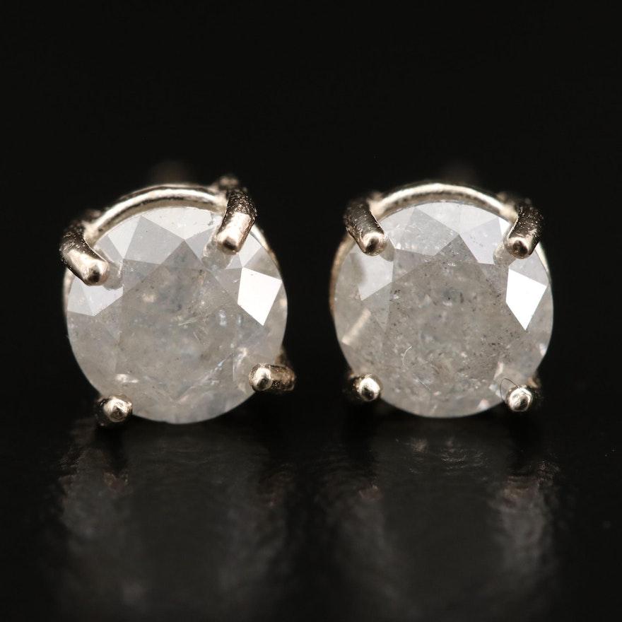14K 1.17 CTW Diamond Stud Earrings