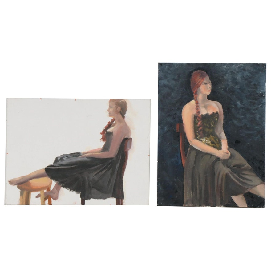 Marcus Brewer Studio Portraits Oil Paintings