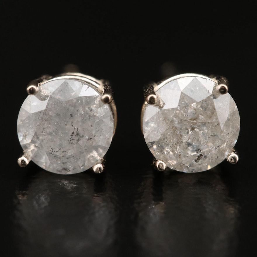 14K 1.45 CTW Diamond Stud Earrings