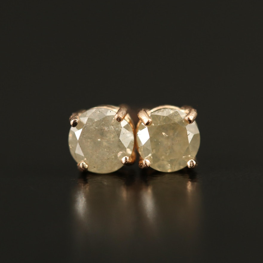 14K 0.66 CTW Diamond Stud Earrings