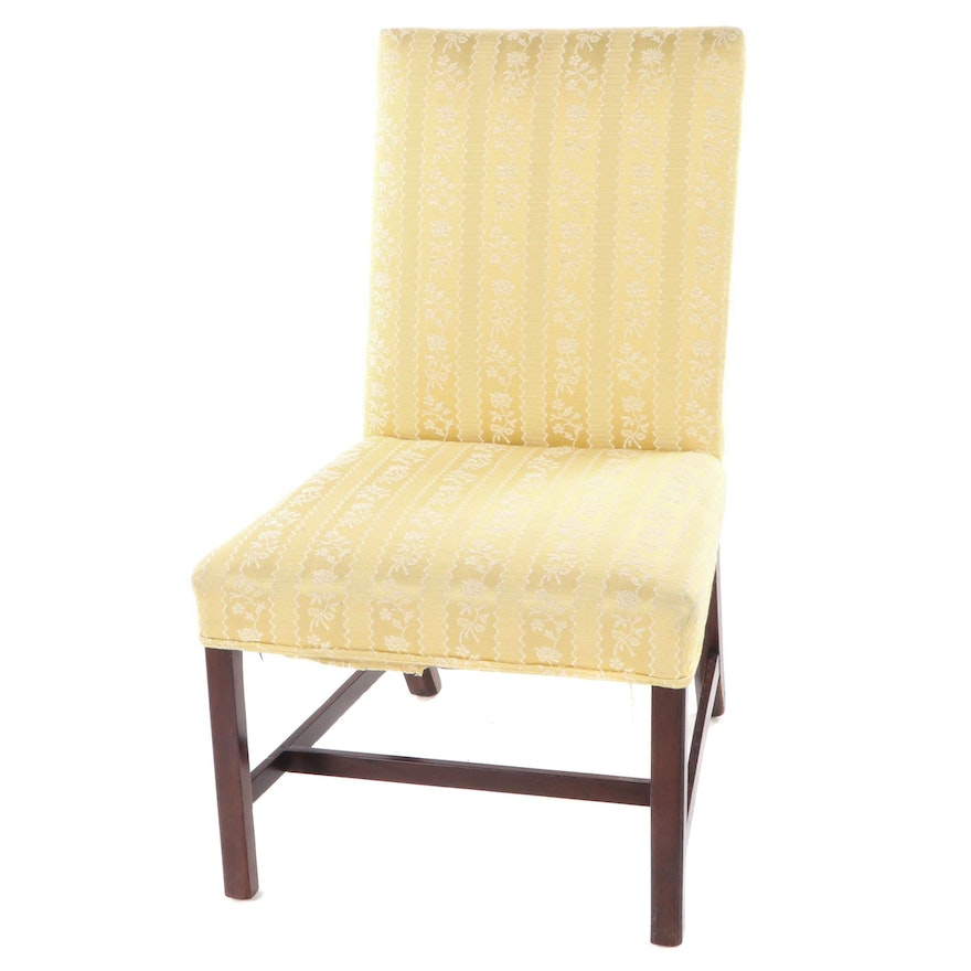 George III Mahogany Upholstered Side Chair, Late 18th Century