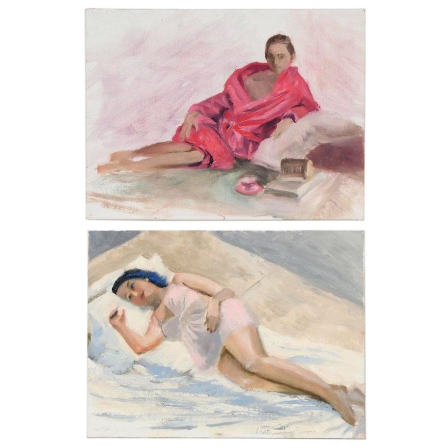Marcus Brewer Studio Portrait Oil Paintings