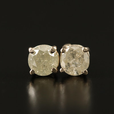 14K 0.89 CTW Diamond Stud Earrings