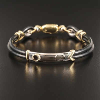 Fulkro 18K and Rubber Bracelet