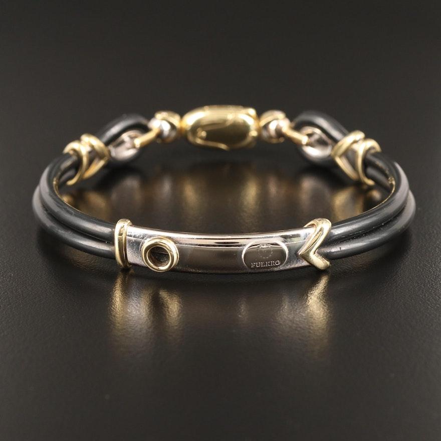 Fulkro 18K and Rubber Bracelet