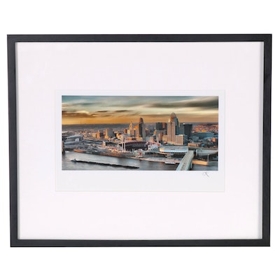 "Jon Keeling Digital Photograph ""Queen City at Dusk"""