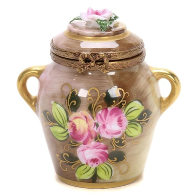La Gloriette Hand-Painted Porcelain Urn Limoges Box