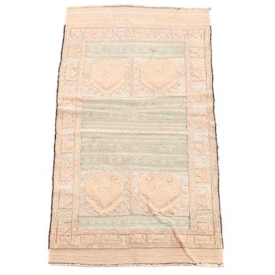 2'9 x 5'5 Handmade Afghani Soumak Wool Rug