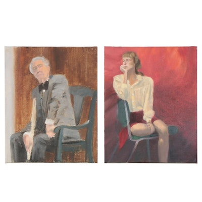 Marcus Brewer Oil Studies of Seated Models, 21st century