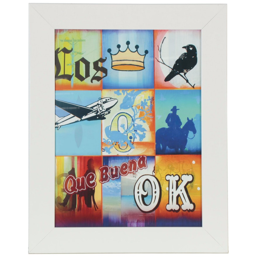 "Offset Lithograph after Mark Hobley ""Que Buena"""