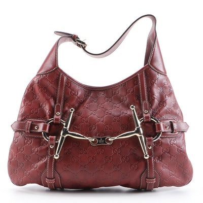 Gucci 85th Anniversary Limited Edition Hobo Bag in Burgundy Guccissima Leather