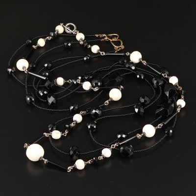 Beaded Necklaces Featuring Stephen Dweck, Black Onyx and White Coral