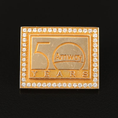 14K Diamond Amway Fifty Year Anniversary  Pin, One-Of-A-Kind