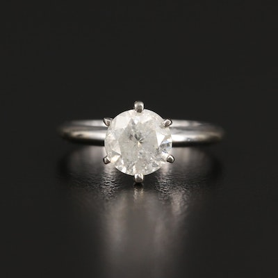14K 1.52 CT Diamond Solitaire Ring