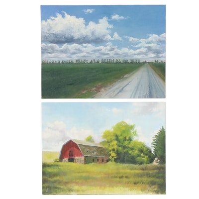 Marcus Brewer Rural Landscapes Oil Paintings