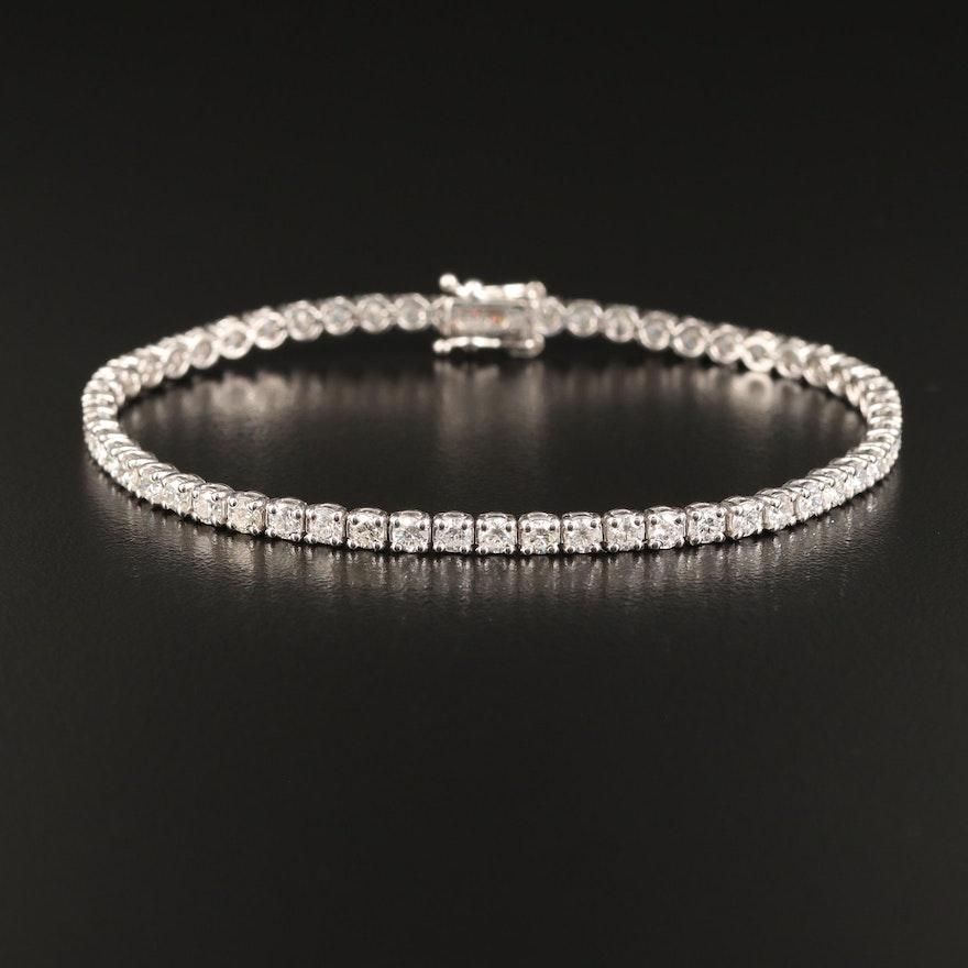 14K 4.50 CTW Diamond Line Bracelet