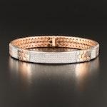 14K Rose Gold 2.03 CTW Diamond Honeycomb Link Bracelet