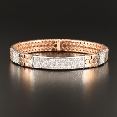 14K Rose Gold 2.03 CTW Diamond Honeycomb Link Bracelet