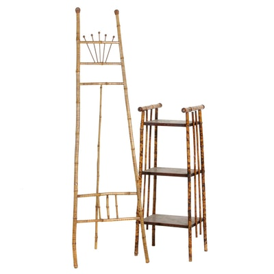 Aesthetic Movement Bamboo Display Easel and Plant Stand