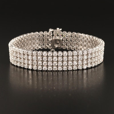 14K 9.25 CTW Diamond Tennis Bracelet