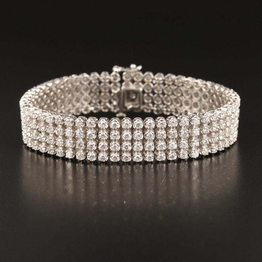 14K 9.25 CTW Diamond Tennis Bracelet