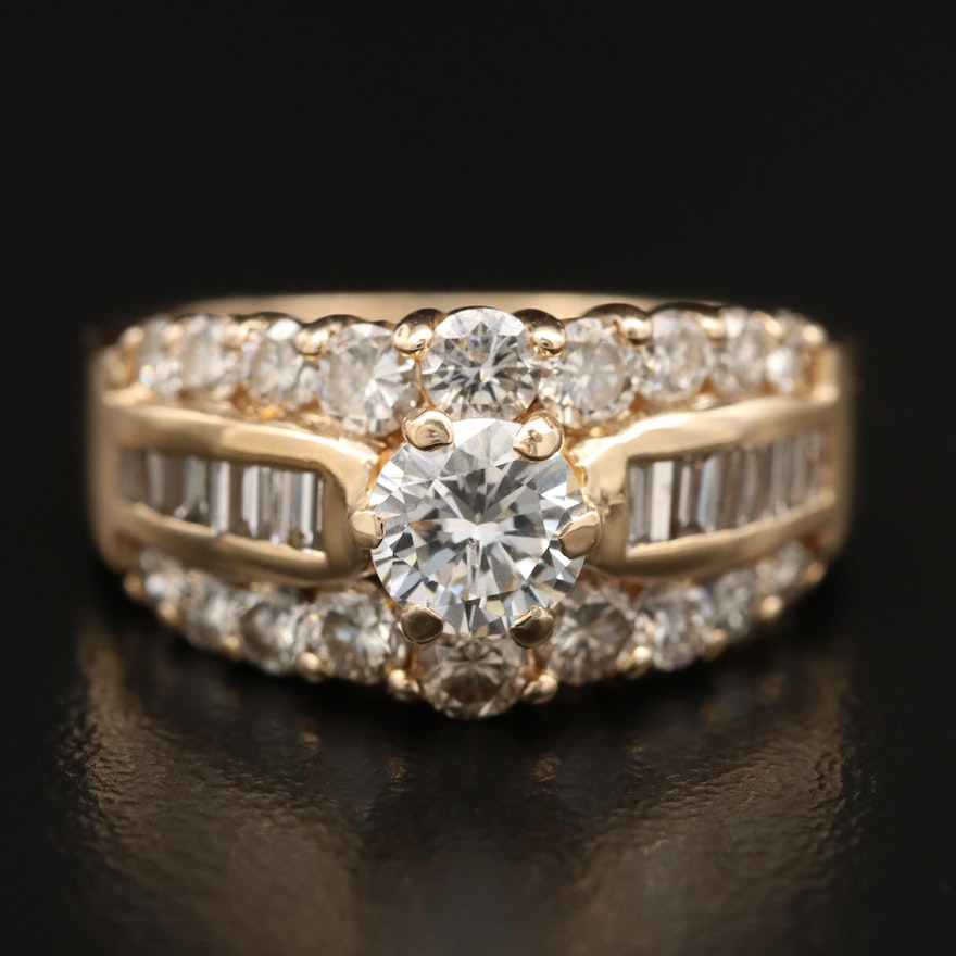14K 2.04 CTW Diamond Ring
