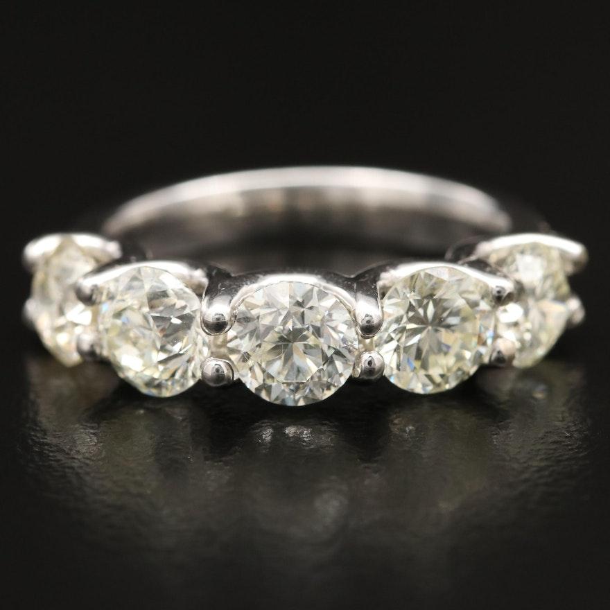 14K Gold 3.46 CTW Diamond Five Stone Band