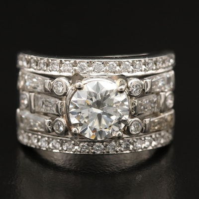 Platinum 2.72 CTW Diamond Ring