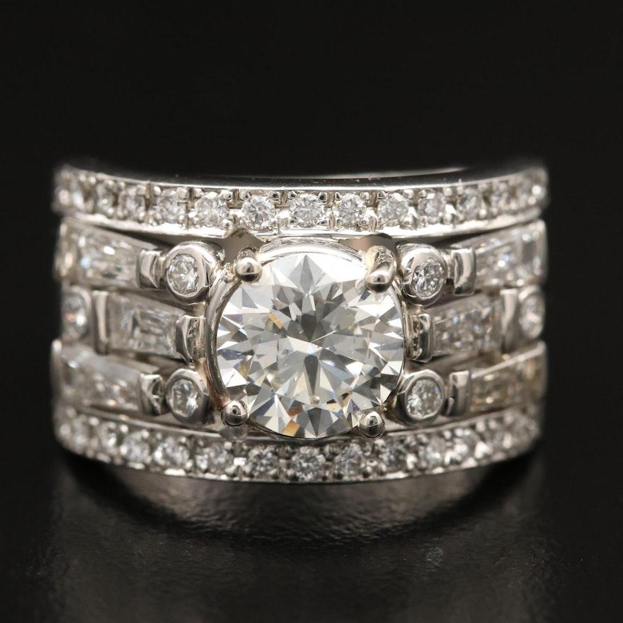 Platinum 2.72 CTW Diamond Ring