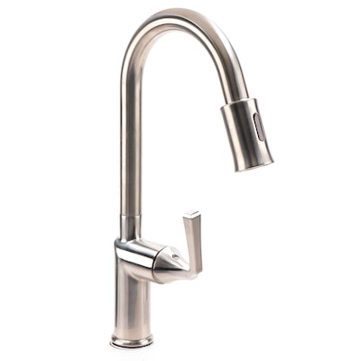 Mullinax Single Hole Touchless Brushed Nickel Kitchen Faucet