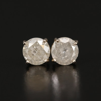 14K 1.60 CTW Diamond Stud Earrings