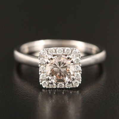 14K 1.26 CTW Diamond Halo Ring