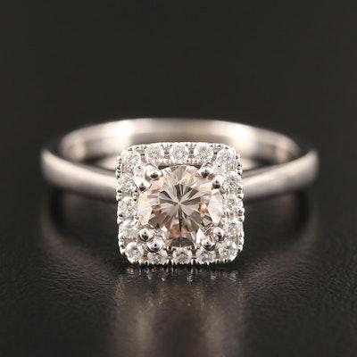 14K 1.26 CTW Diamond Halo Ring