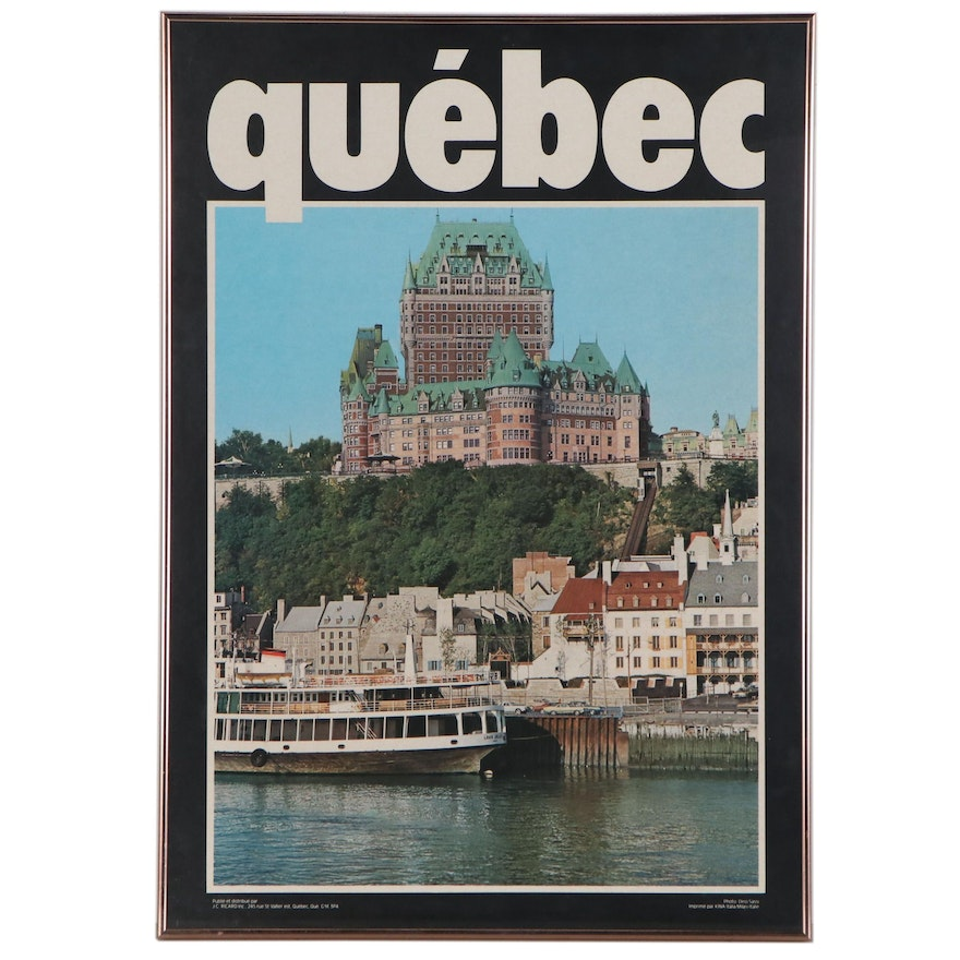 Quebec Vintage Travel Poster Featuring the Château Frontenac