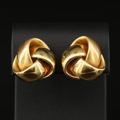 18K Knot Clip Earrings