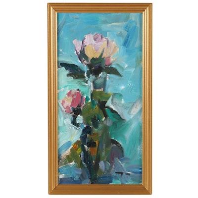 "Jose Trujillo Oil Painting ""The Rose,"" 2019"